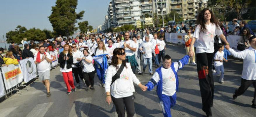 H Down Running Team στον 4ο Νυχτερινό Ημιμαραθώνιο Θεσσαλονίκης